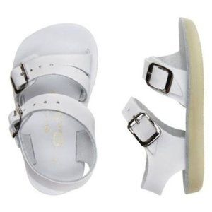 "Saltwater Sandals White ""Sea Wees"" Sandals"